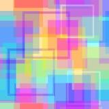 Abstrakt modern fyrkantig pastellfärgad PIXELbakgrund Royaltyfri Bild