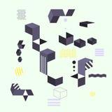 Abstrakt modern geometrisk bakgrund Designbanerformer Arkivbilder