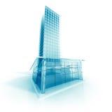 Abstrakt modern Glass designbyggnad Royaltyfria Foton