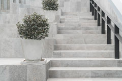 Abstrakt modern konkret trappa Royaltyfria Foton