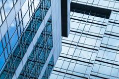 Abstrakt modern kontorsbyggnadarkitektur Arkivfoton