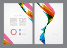 Abstrakt modern ljus mångfärgad reklamblad Arkivfoton