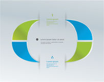 Abstrakt modern logomall. Symbol för ditt företag. Arkivbilder