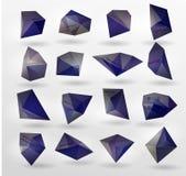 Abstrakt modern polygonal bubbla, etikettwebsite Royaltyfri Foto