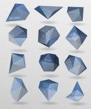 Abstrakt modern polygonal bubbla, etikettwebsite Royaltyfria Foton