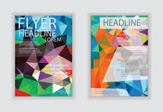 Abstrakt modern räkning/broschyr, reklambladdesignmall Royaltyfri Foto