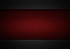 Abstrakt modern röd svart perforerad platta Royaltyfria Bilder