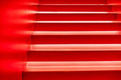 Abstrakt modern röd trappa Arkivfoto