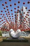 abstrakt modern skulptur Arkivfoton