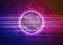 Abstrakt modern teknologi cirklar bakgrund Royaltyfri Bild