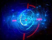 Abstrakt modern teknologisk mångfärgad polygonbakgrund royaltyfri illustrationer