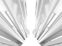 Abstrakt modern vit arkitekturbakgrund Royaltyfria Foton