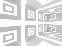 Abstrakt modern vit arkitekturbakgrund Royaltyfri Foto