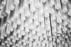 Abstrakt modernt arkitekturfragment Vit design arkivbild