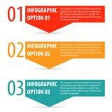 Abstrakt modernt infographicsalternativbaner Arkivbild