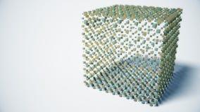Abstrakt molekylär kubstruktur lager videofilmer