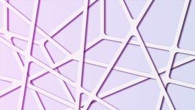 Abstrakt molekylär polygonal bakgrund för färgrik lutning med förbindande linjer royaltyfri illustrationer