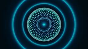 Abstrakt molekylär stor datatechbakgrund Royaltyfria Bilder
