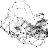 Abstrakt molekylär struktur på vit bakgrund Arkivfoto