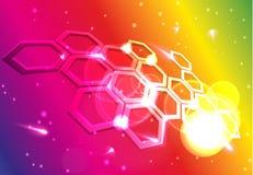 Abstrakt molekylärt raster Arkivbild