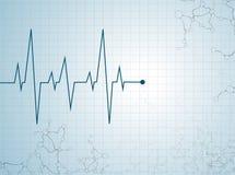 Abstrakt molekyl för hjärtatakter Royaltyfria Foton