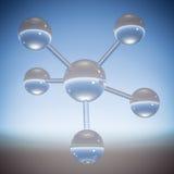 Abstrakt molekyl - illustration 3D Arkivfoton