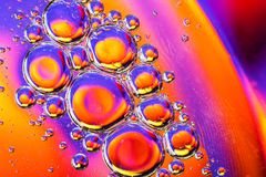 Abstrakt molekylsctructure Makroskott av luft eller molekylen abstrakt bakgrund Utrymme eller planeter gör sammandrag bakgrund se Royaltyfri Fotografi