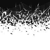 Abstrakt moln av stycken och fragment efter explosion Splittra och f?rst?relseeffekt ocks? vektor f?r coreldrawillustration vektor illustrationer
