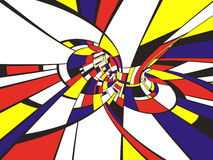 abstrakt mondrian stil 3d Arkivbilder