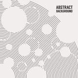 Abstrakt monokrom bakgrund, kurvlinjer och prickar Fyrkantig banerbakgrund arkivbild