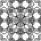 Abstrakt monokrom modell med mosaiken av förvridna fyrkanter av Royaltyfri Bild