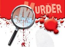 abstrakt mord vektor illustrationer