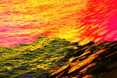 Abstrakt morze Obrazy Royalty Free