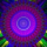 Abstrakt mosaikmandala Arkivfoto