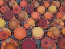 Abstrakt mosaikpersikatextur Royaltyfria Foton
