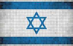 Abstrakt mosaisk flagga av Israel vektor illustrationer
