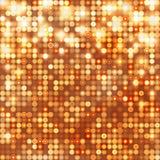Abstrakt mousserande bakgrund för guld med cirklar Royaltyfri Fotografi