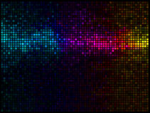 abstrakt multicolor bakgrundsdisko Arkivfoton