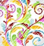 Abstrakt multicolor dekorativ wallpaper royaltyfri illustrationer