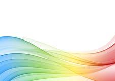 abstrakt multicolor wave royaltyfri illustrationer