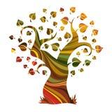 abstrakt multicolour tree Arkivfoto