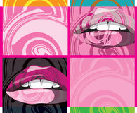 abstrakt munvektor Vektor Illustrationer