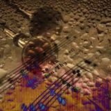 abstrakt musik Arkivbild