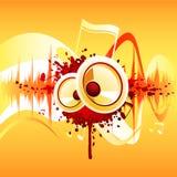 abstrakt musik Arkivfoto