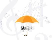 abstrakt musik bemärker regn Royaltyfria Bilder