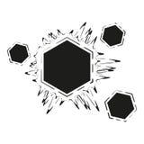 Abstrakt musik för logosymbolvåg Arkivbilder