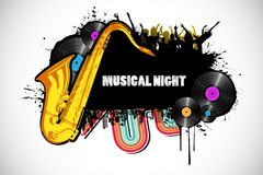 abstrakt musikal stock illustrationer