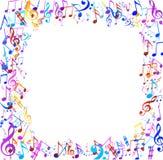 Abstrakt musikalisk bakgrund med anmärkningar Fotografering för Bildbyråer