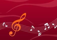 abstrakt musikanmärkning stock illustrationer