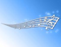 abstrakt musikanmärkningar Arkivfoto